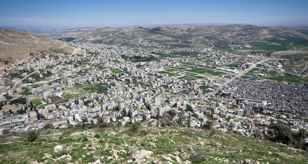 aerial view of Nablus