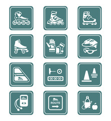 Inline skating icons | TEAL series