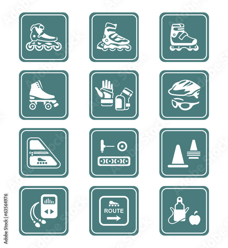 Inline skating icons | TEAL series