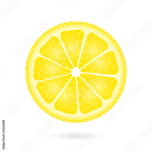 Lemon icon on a white
