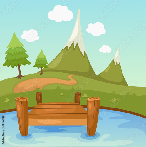 Illustration of beautiful landscape scene