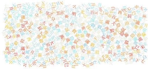 chinese alphabet texture background