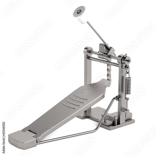 realistic 3d render of drum pedal