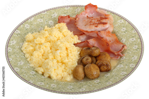 Bacon Mushrooms and Scrambled Eggs