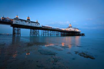 Eastbourne pier at dusk.