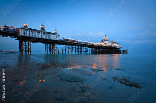 Eastbourne pier at dusk.