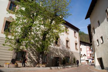 Dorf, südtirol, Alpen, Dorfkern, Platz, Stadtkern, Hauptplatz