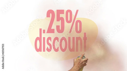 25 Percent Discount Spray Painting