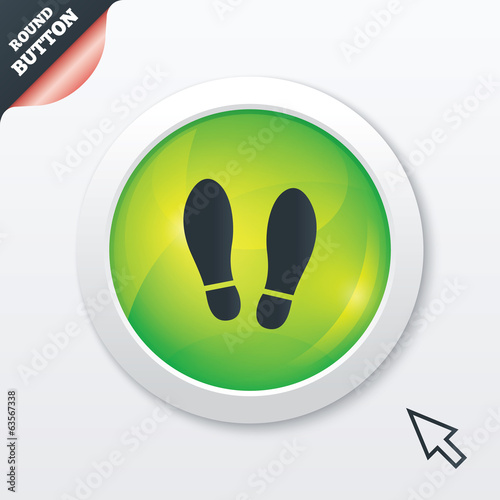 Imprint shoes sign icon. Shoe print symbol