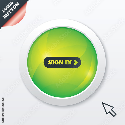 Sign in with arrow sign icon. Login symbol