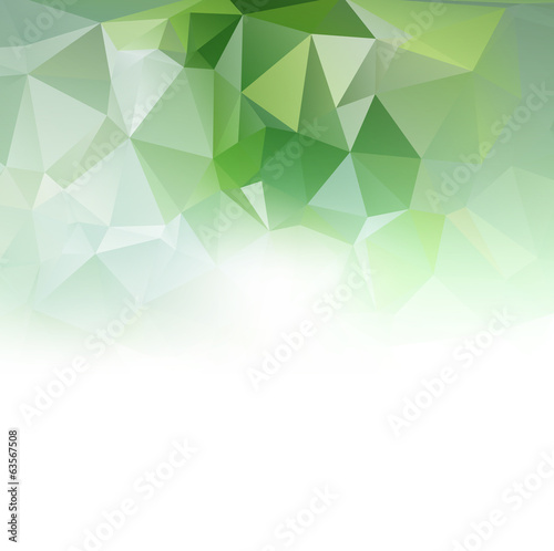 Green geometric background, vector illustration