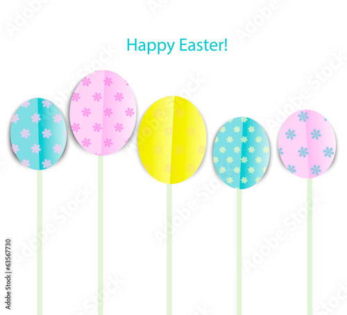 Happy Easter, vector illustration