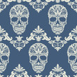 Skull Swirl Decorative Pattern - 63568199