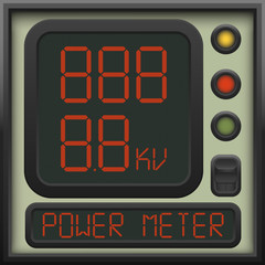 The user interface of the device - a power meter