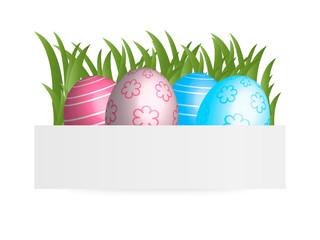Easter banner, vector illustration