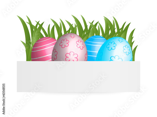 Easter banner, vector illustration