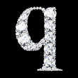 "A stunning beautiful ""q"" set in diamonds"