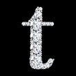 "A stunning beautiful ""t"" set in diamonds"