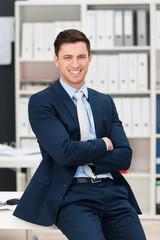 erfolgreicher manager im unternehmen