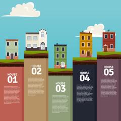 Houses infographics