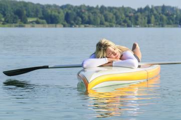 Erholung auf dem Wasser