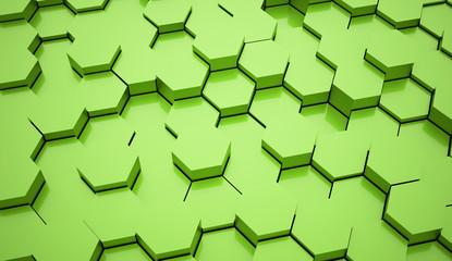 Green hexagonal business