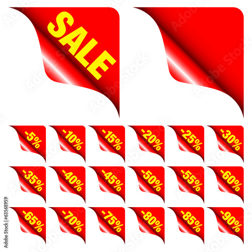 "Corners Set ""Sale"" Minus Red Yellow"