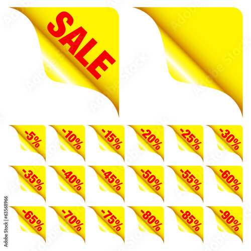 "Corners Set ""Sale"" Minus Red/Yellow"