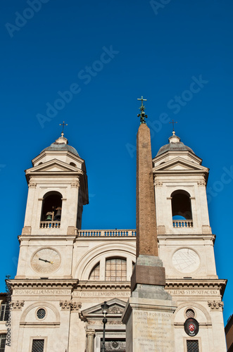 Santissima Trinita dei Monti Church and Obelisk