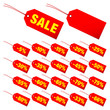 "Hangtags Set ""Sale"" Minus Red Yellow"