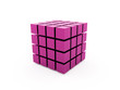 Purple abstract cubes background rendered