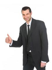 Uomo d'affari che fa ok