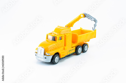 Dump with crane toy car