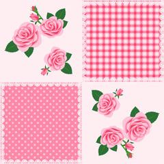 Patchwork pattern_Floral design of roses