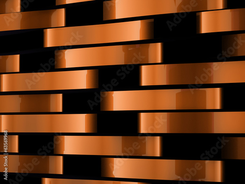 Orange abstract waves background