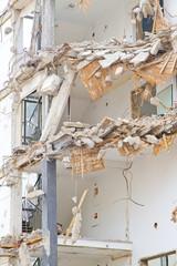 Abriss eines mehrstöckigen Gebäudes