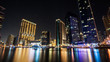 Night view of Dubai Marina, UAE.