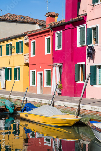 Yellow Boat in Burano