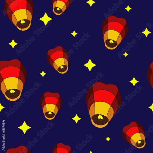 Flying Chinese Lanterns Pattern