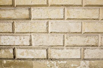 Dettaglio di muro in pietra leccese