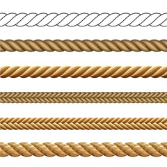 Set of Different Styles of Rope