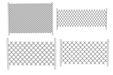 cartoon image of chain fence