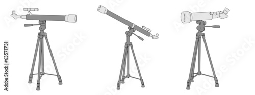cartoon image of telescopes (optical devices)