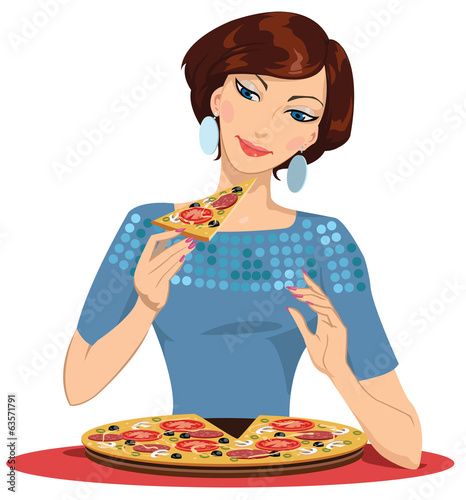 girl in the pizzeria