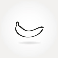 Minimalistic banana icon