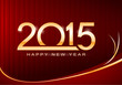 happy new 2015 year card