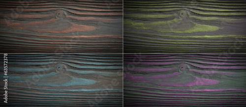 Set wood texture background