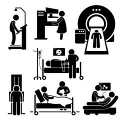 Hospital Medical Checkup Diagnostic Cliparts