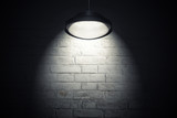 Fototapety White wall illuminated with spot light