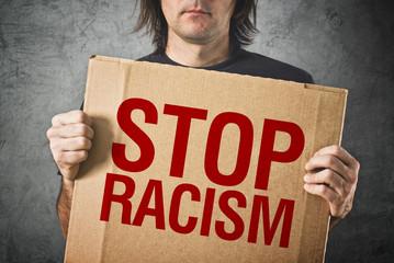Stop racism message